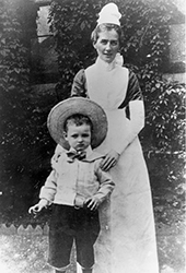 Edith Cavell with a child, c. 1904