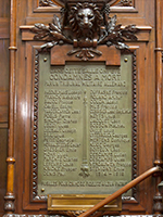 Memorial plaque in the Belgian Senate. Courtesy of the Senate, Guy Goossens