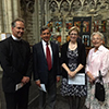 Norwich Cathedral Canon Peter Doll. BECCG-Andrew Brown. HE Ambassador Alison Rose. BECCG-Debora Delheusy - ©photo Vincent Vandendriessche