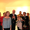 Vernissage, Katie Cavell meets the public applauded by Armand De Decker and Andrew Brown